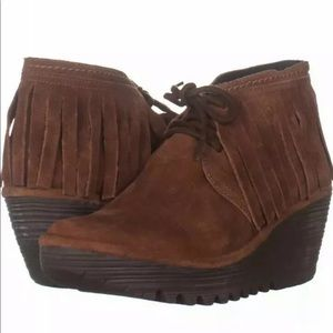 Fly London shoes womens 35 4 5 oil suede brick NEW